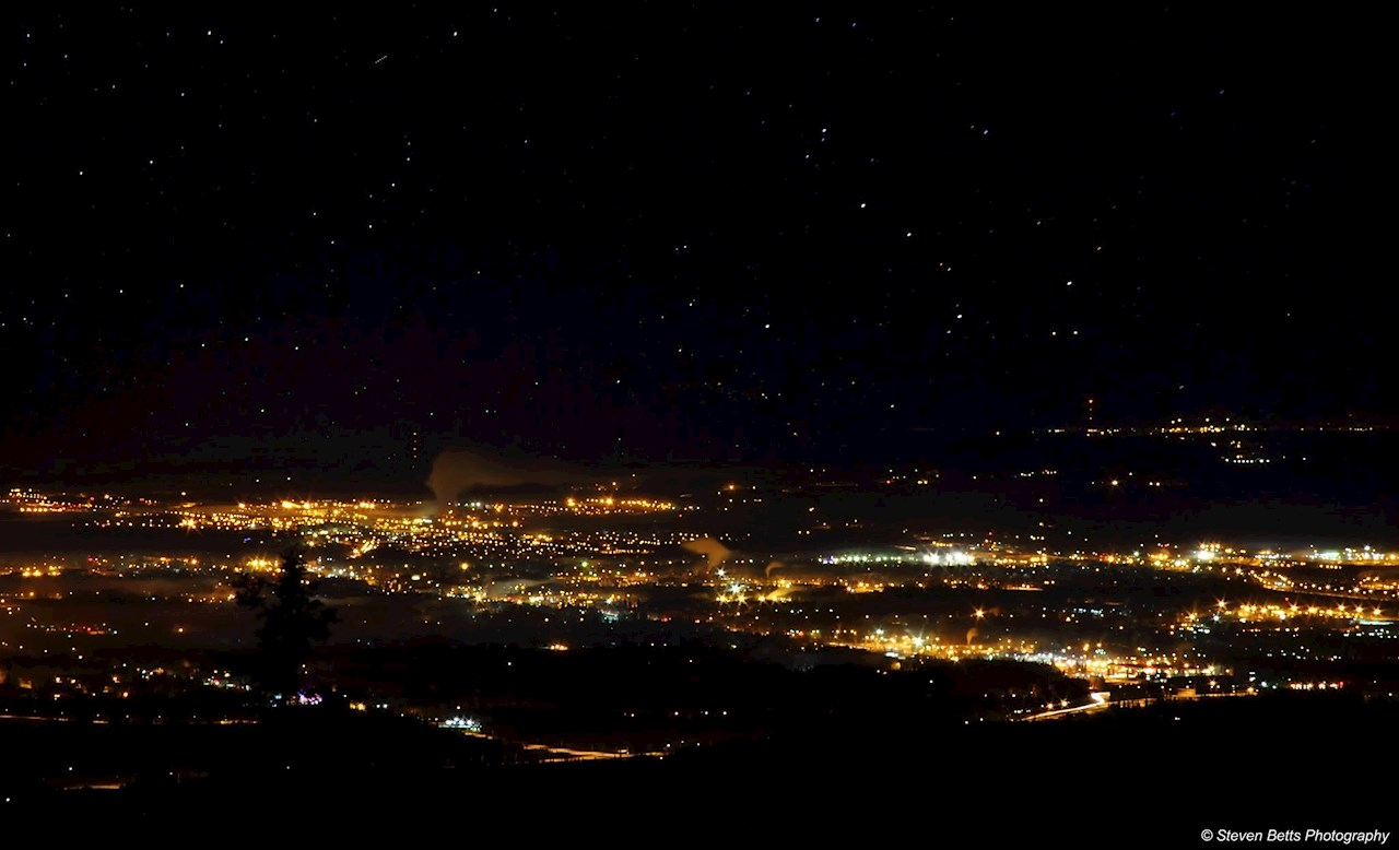 Fairbanks, Alaska, at night