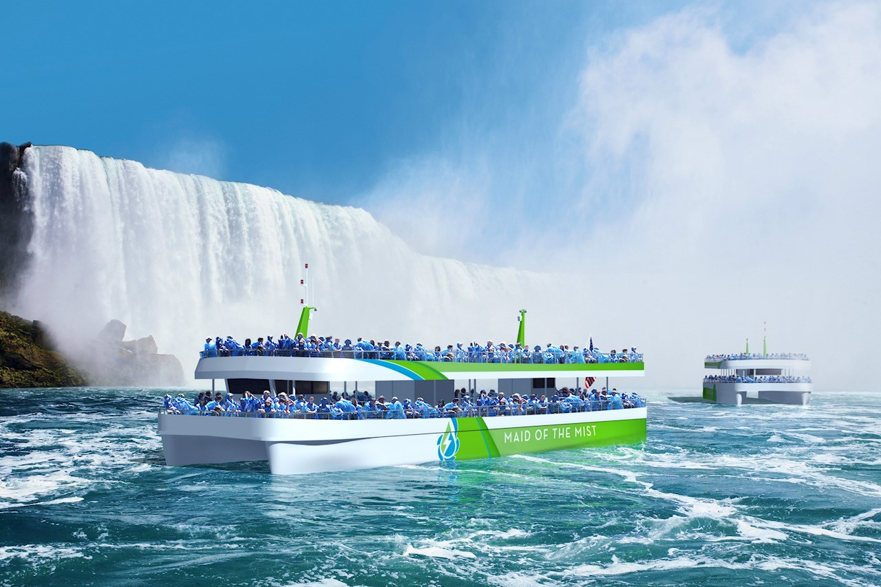 The Maid of the Mist sailing on pure electric power enabled by ABB.