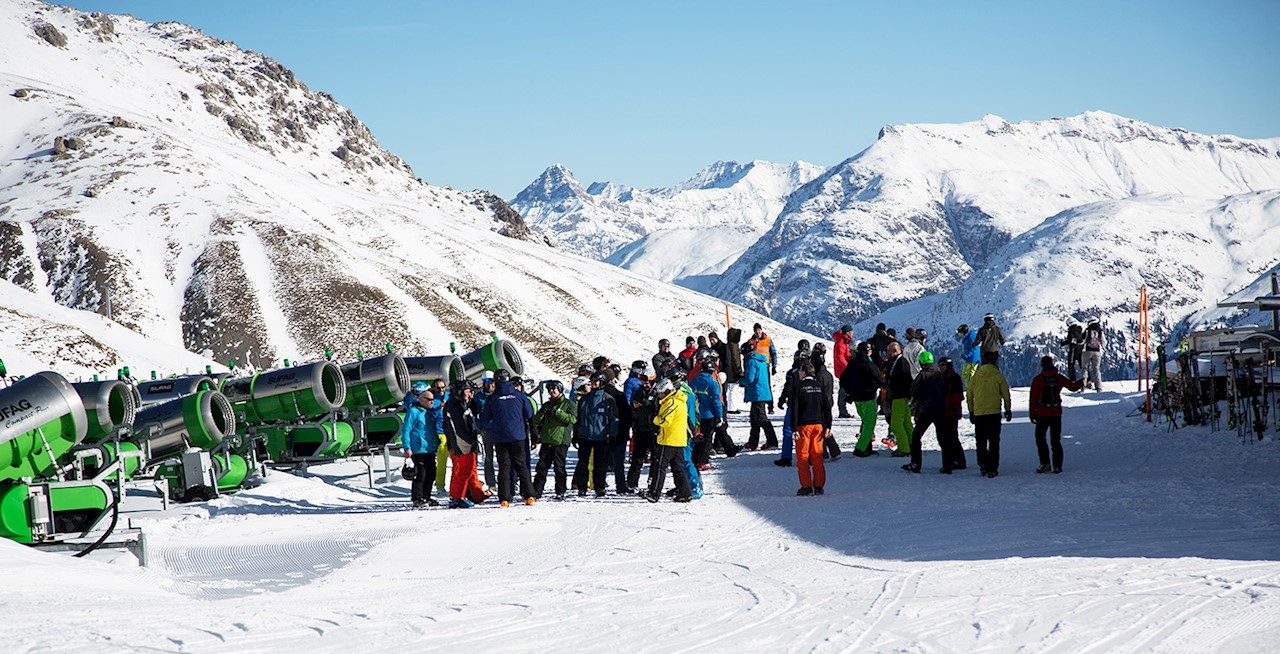 Snow machines in St. Moritz