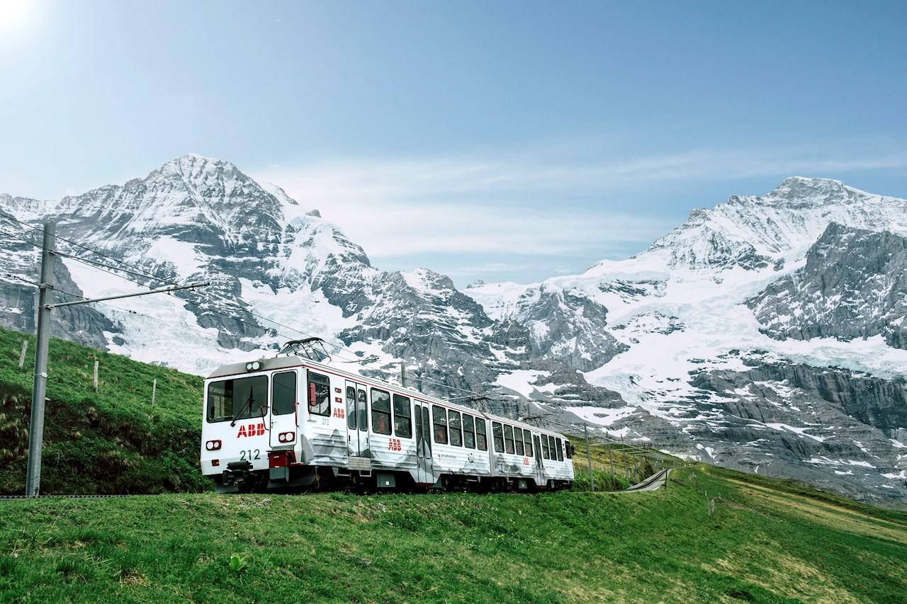 ABB branded Jungfrau Railway train