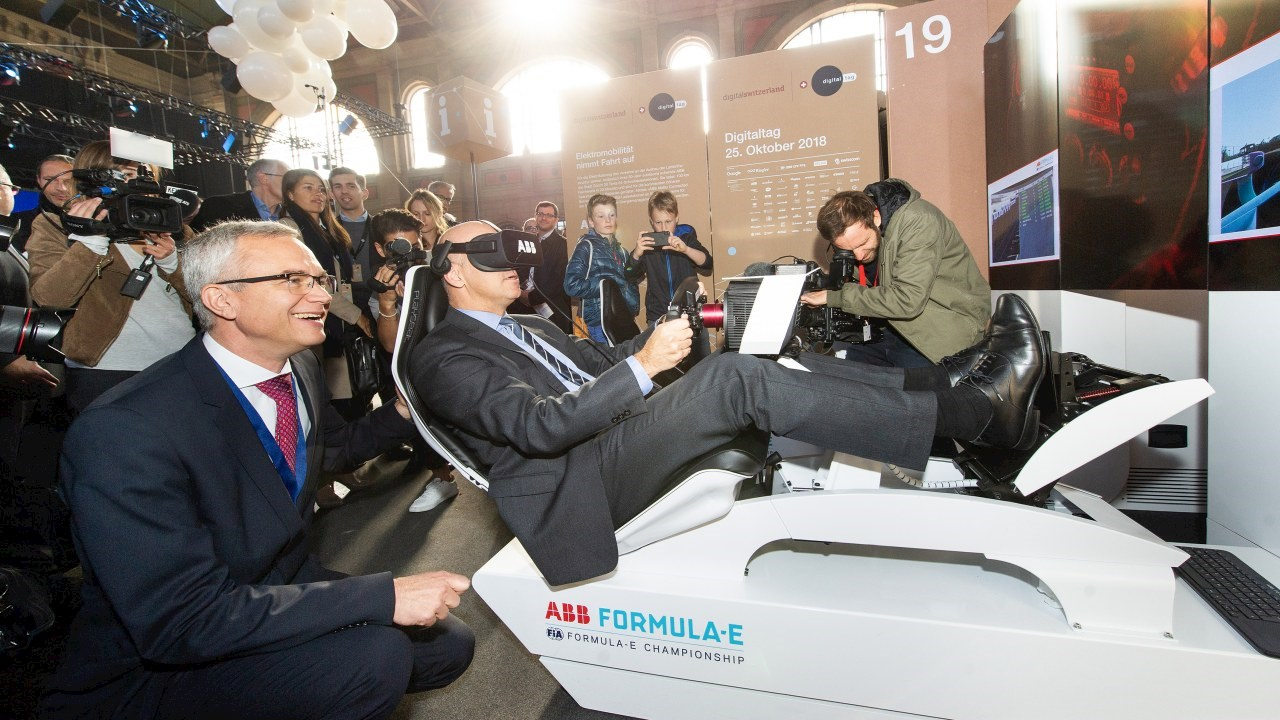 Digitaltag 2018: Bundespräsident in der ABB-Formel-E-Poleposition