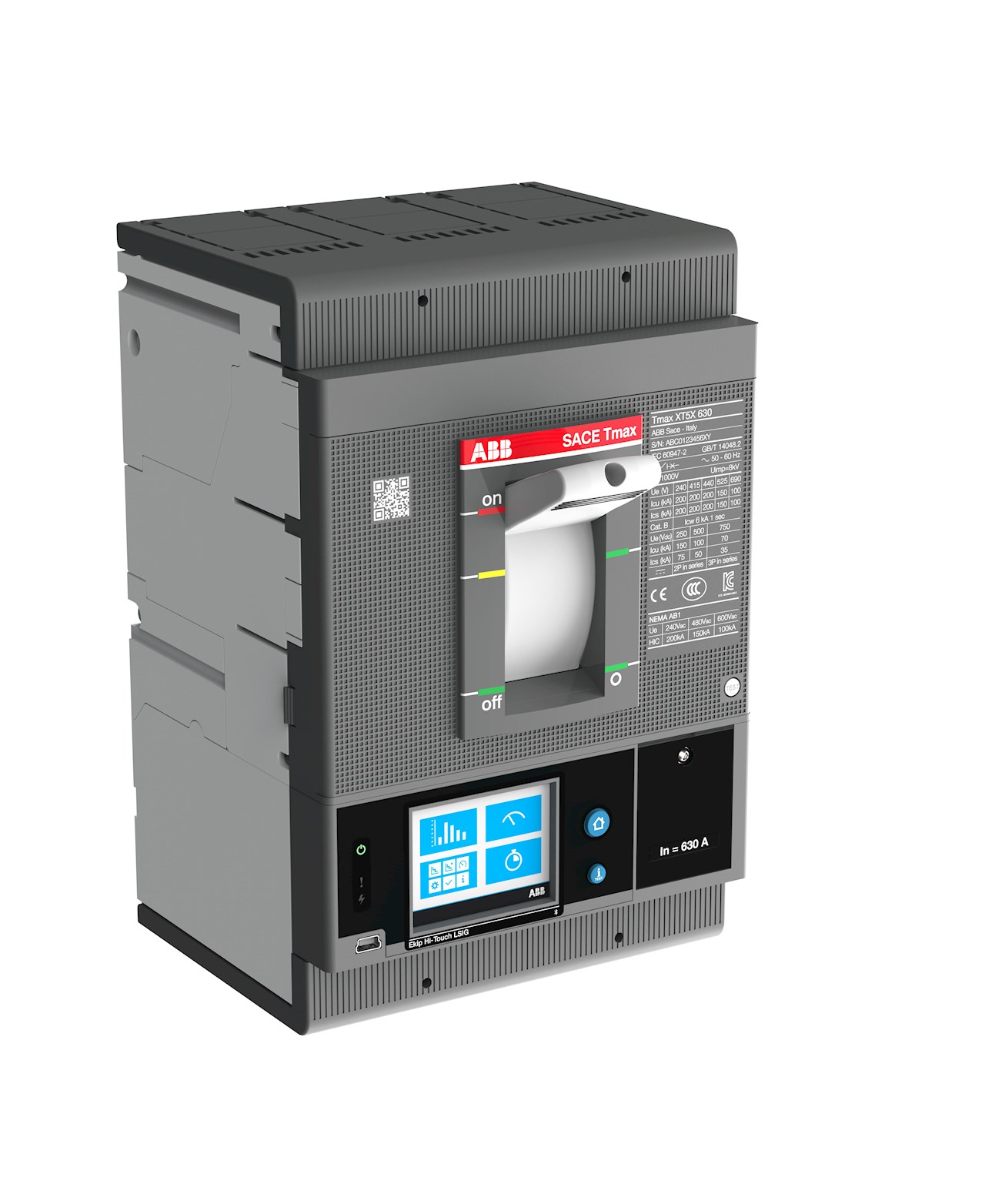 The ABB Tmax XT circuit breakers with Ekip Com architecture provide direct Internet of Things (IoT) connectivity for the full range from 40 to 6,300A.