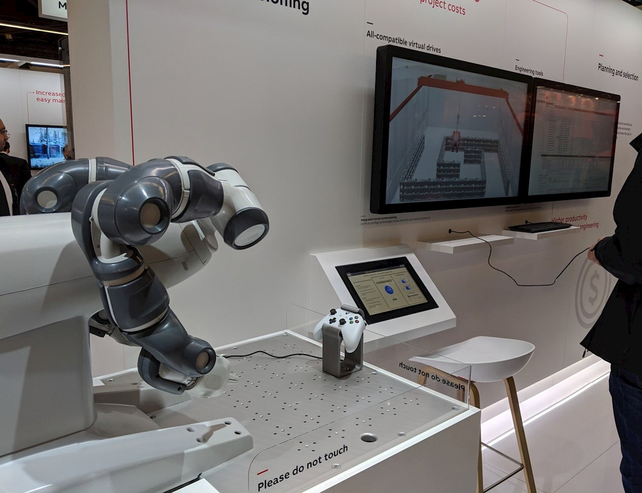 ABB's YuMi Robot ready to interact with attendees of SPS 2018