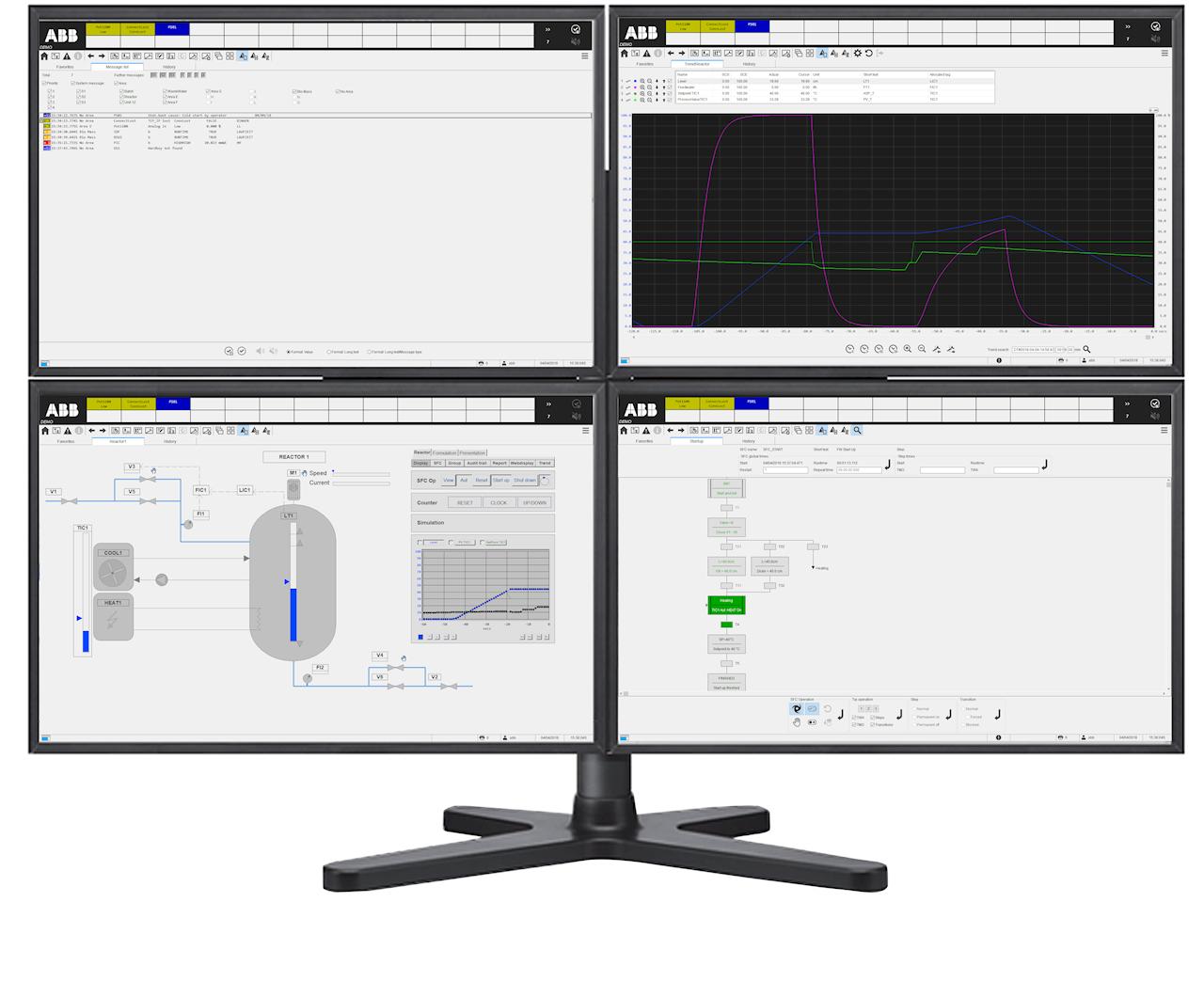 Matrice a quattro monitor ora disponibile con Freelance 2019