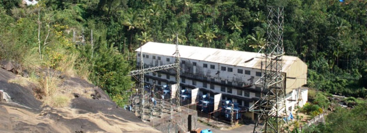 Kuthungal Hydro Electric Power Plant in Kerala's Idukki district.