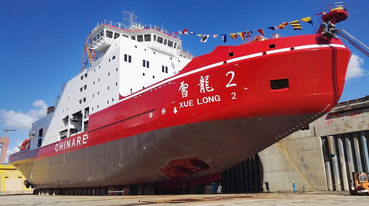 Xue Long 2 icebreaker. Photo courtesy of Polar Research Institute of China