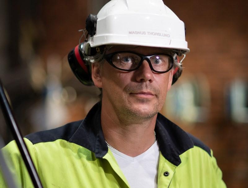 Magnus Thorslund, Underhållschef vid Varmvalsverket på Outokumpu i Avesta