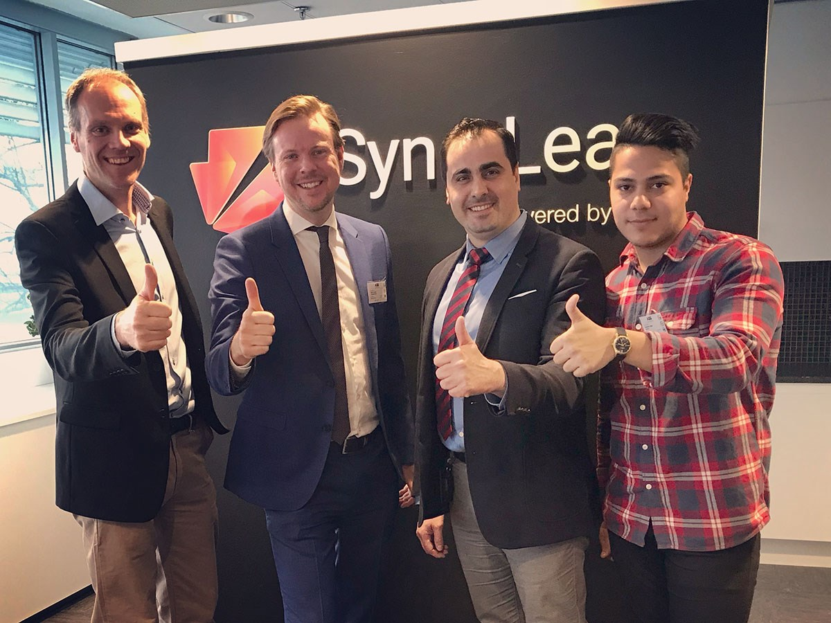 From left to right: Peter Löfgren, SynerLeap; Björn Lindh, Graphmatech; Mamoun Taher, Graphmatech; Zargham Jabri, Graphmatech