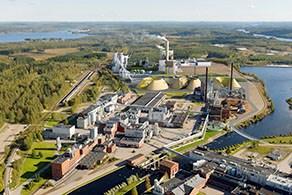 Drawing of  planned bioproduct mill in Äänekoski, Finland (© Metsä Group)