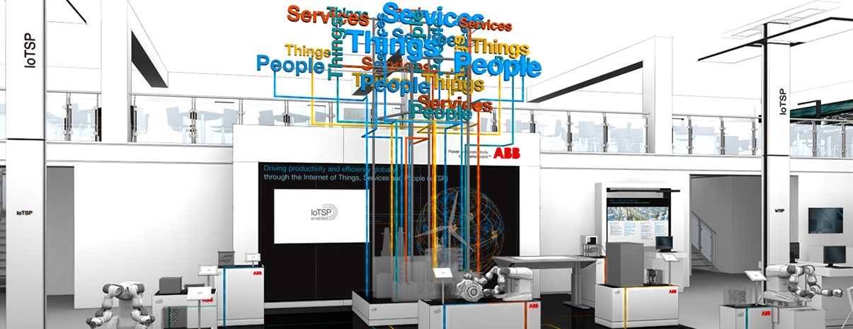 Rendering ABB Booth Hannover Messe 2016