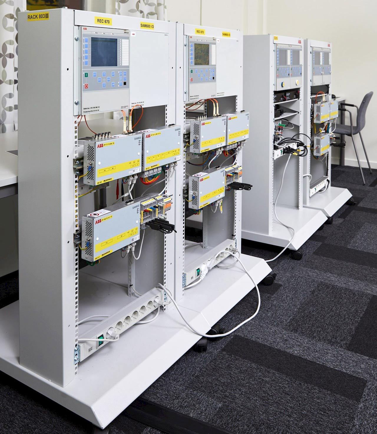 The Grid Automation Products demo system used in the training
