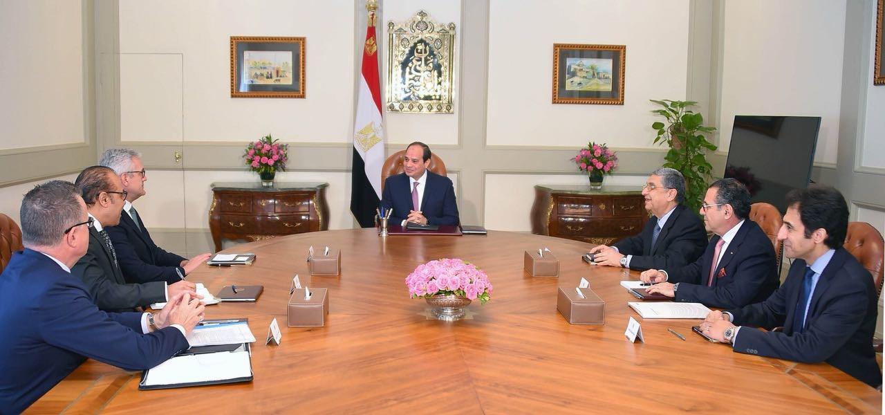 ABB CEO Dr. Ulrich Spiesshofer meets H.E. Abdel Fattah al-Sisi, President of the Arab Republic of Egypt