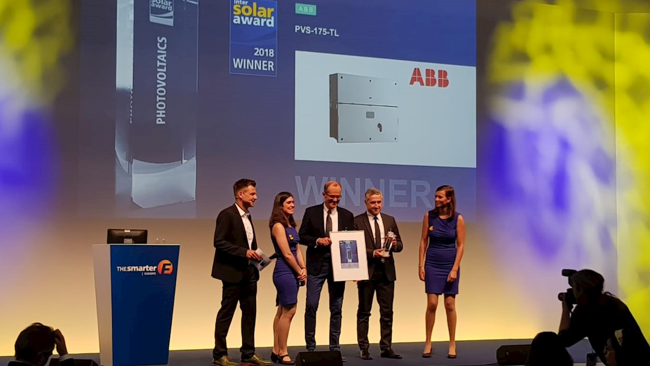 ABB's award winning solar inverter reduces logistic and installation costs by up to 65 percent
