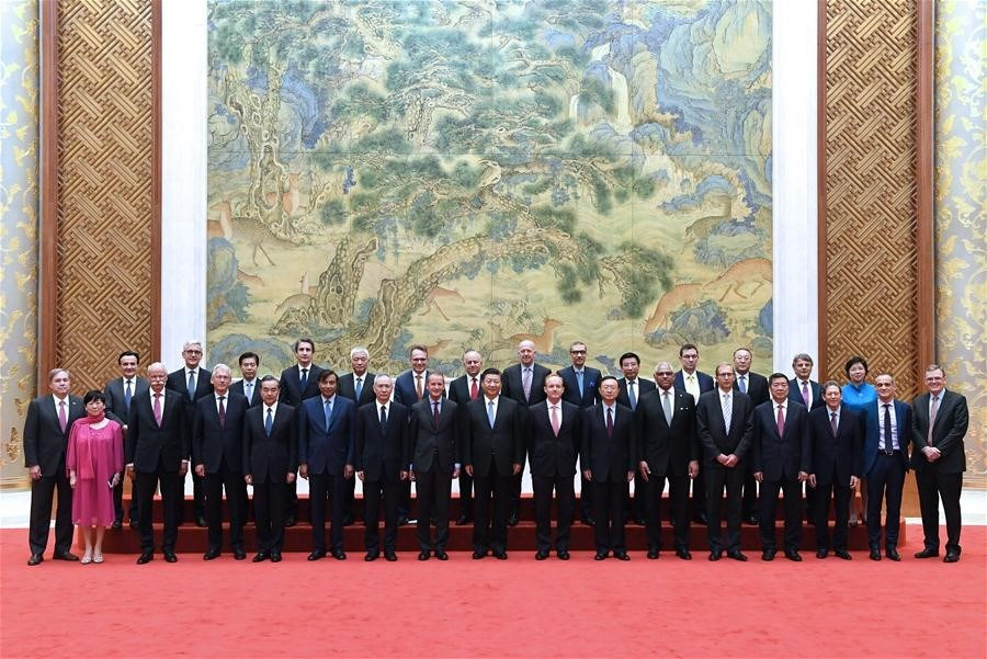The Global CEO Council was founded in 2013 and its Roundtable Summit is held each year in June in China's Great Hall of the People.