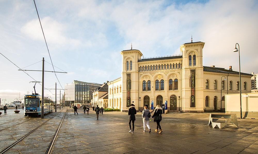 ABB er en av hovedsponsorene for Nobels Fredssenter i Oslo. Foto: Johannes Granseth / Nobels Fredssenter.