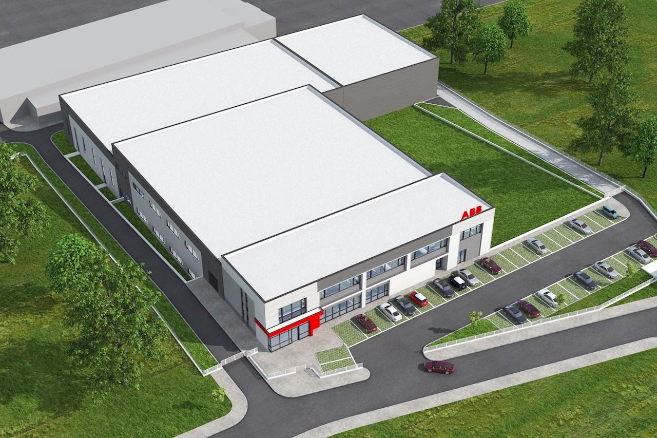 Визуализация на новата производствена база в Петрич - изглед отгоре