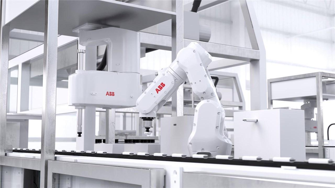 ABB pristato kompaktiškiausią ir lengviausią šešių ašių robotą