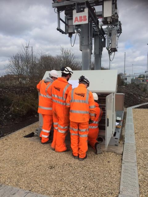 Network rail engineers fault finding on ABB's SMOS Light