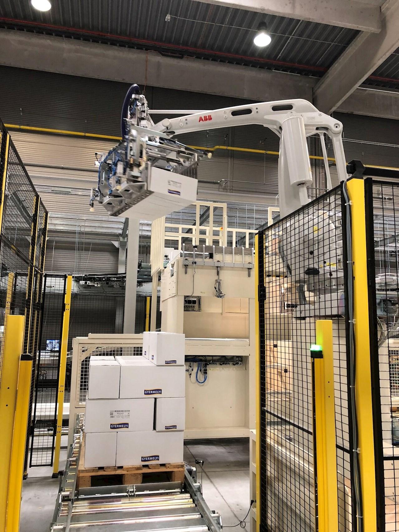 ABB robot a Gyermelyi tésztagyárban