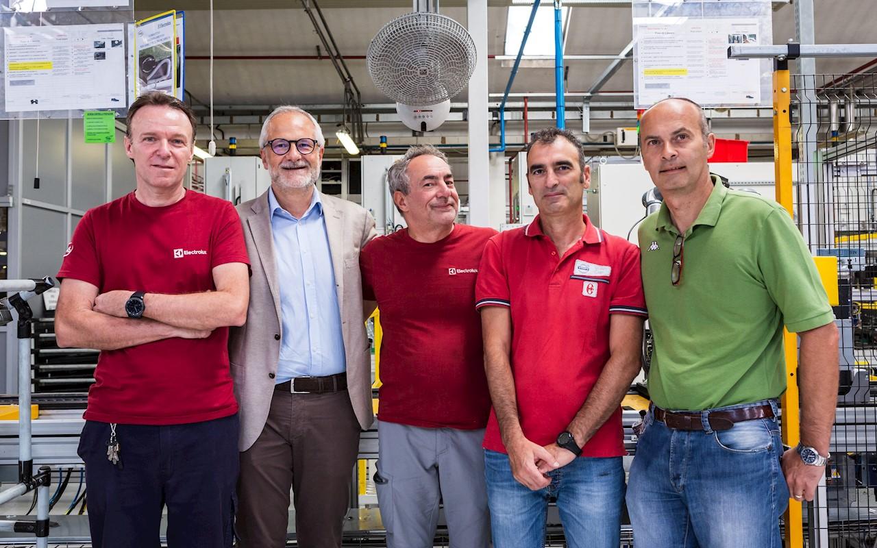 Da sinistra: Carlo Rimoldi, Pierluigi Mancini, Claudio Tauro, Domenico Ruffa e Alessandro Barbielli