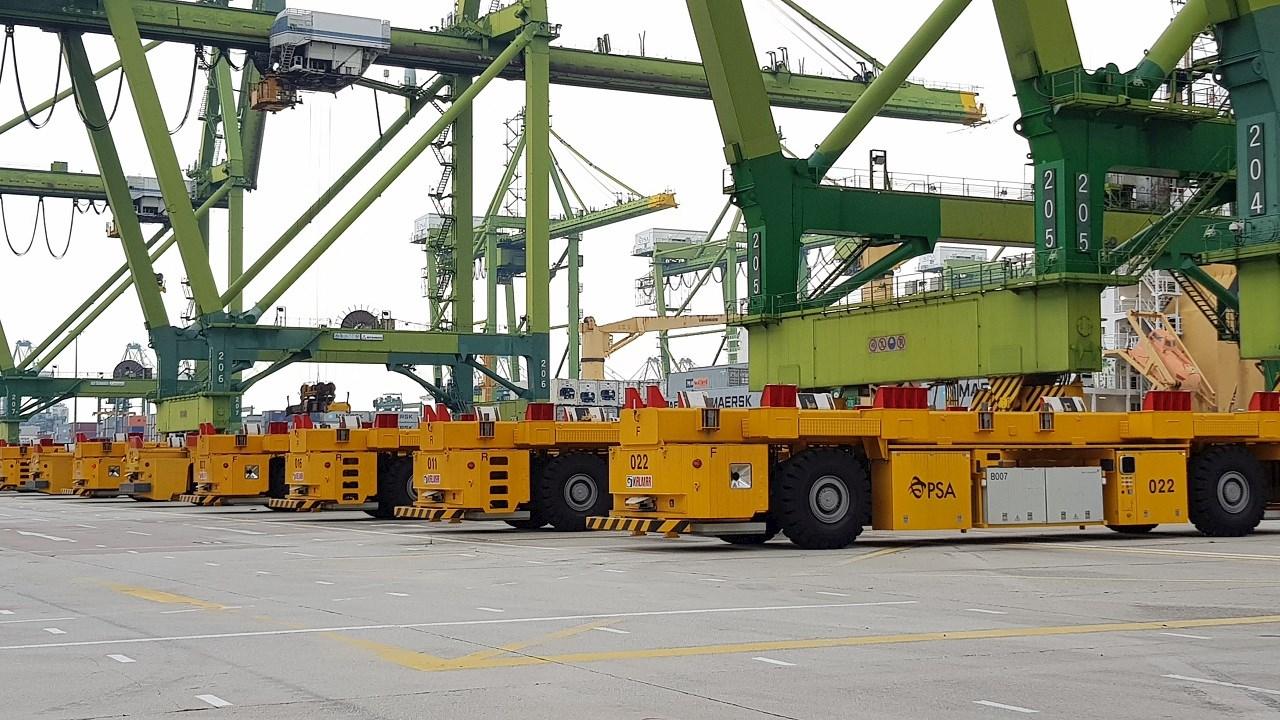 ABB、シンガポール新港のAGV向けに充電器を受注