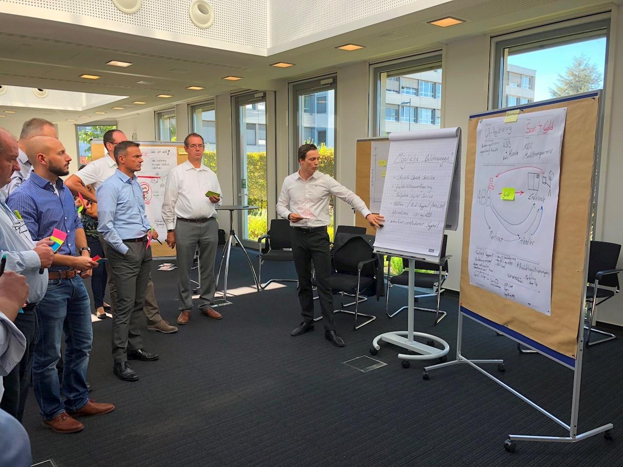 Seit dem Start des ACE Ladenburg haben mehr als 1.100 Kunden, Partner und ABB-Experten in Co-Creation Workshops  Kundenanforderungen analysiert und Lösungsansätze erarbeitet.