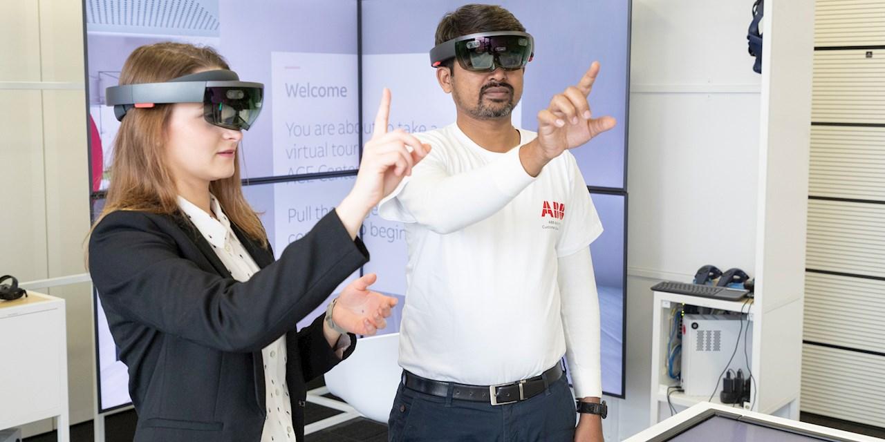 In Showrooms und anhand von interaktiven Exponaten erleben die Kunden im ACE den Nutzen und das Potenzial digitaler Anwendungen.