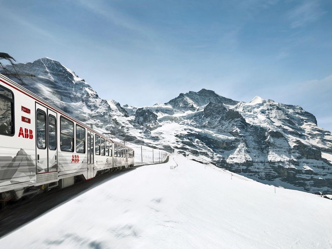 Tren Jungfrau en los Alpes Suizos.