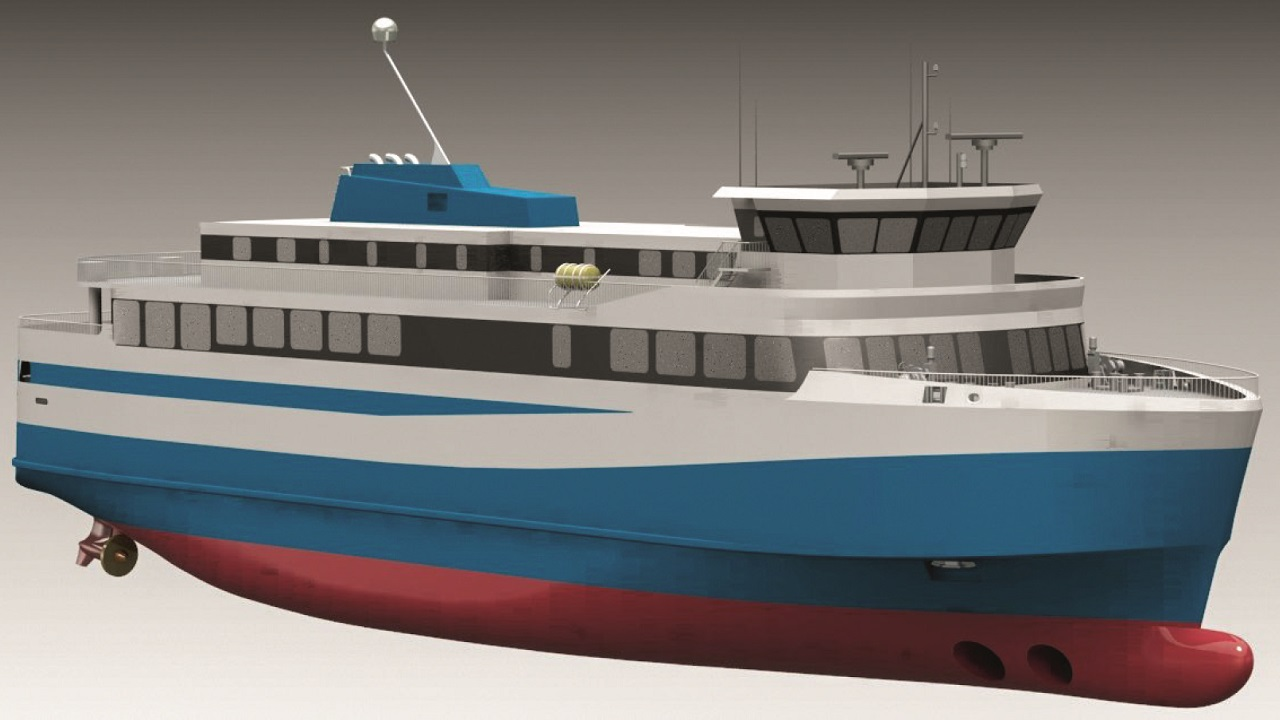 03 Iceland's first electric ferry, visualized by Polarkonsult, a design partner of the vessel.
