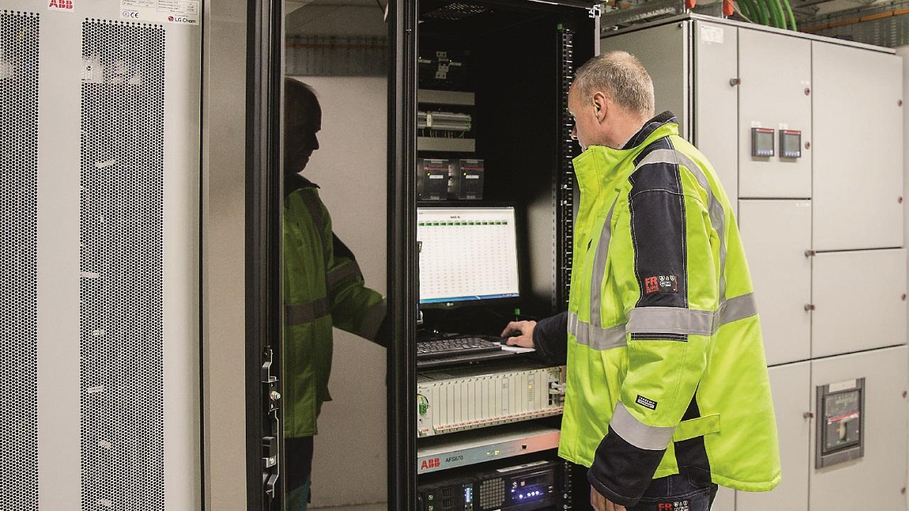 An ABB battery-based energy storage solution in Denmark.