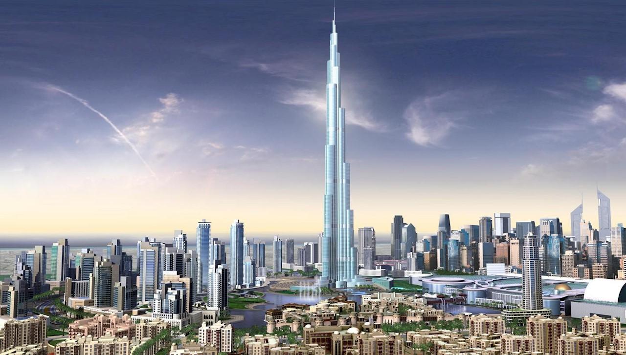 A Burdzs Kalifa felhőkarcoló.