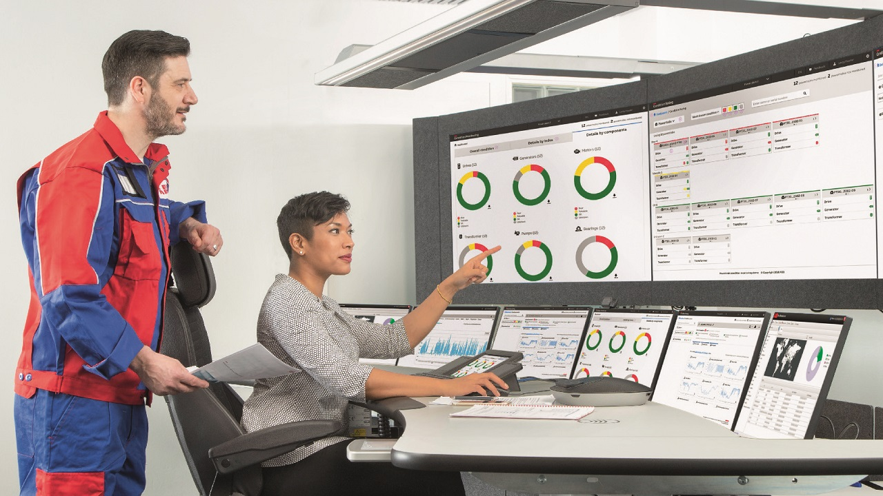01 ABB Ability Condition Monitoring for power­trains enables plant operators to improve the performance, reliability and efficiency of their powertrain components.