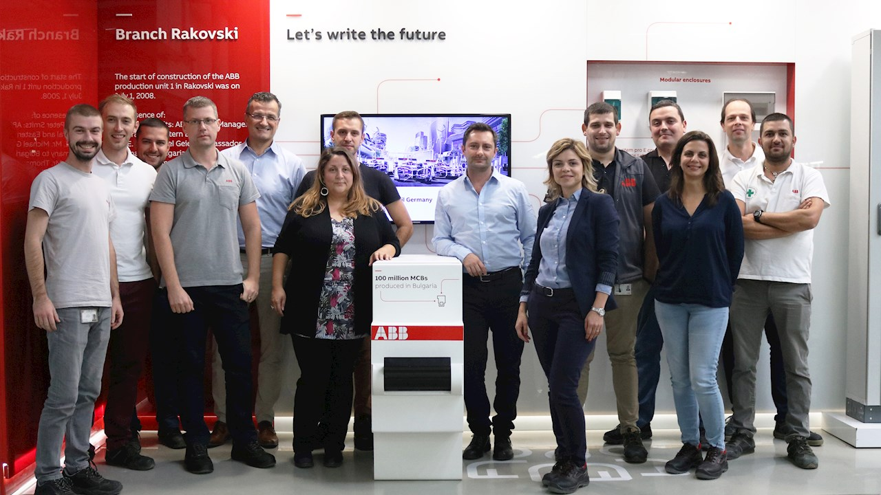 ABB Bulgaria celebrates one hundred millionth Miniature Circuit Breaker