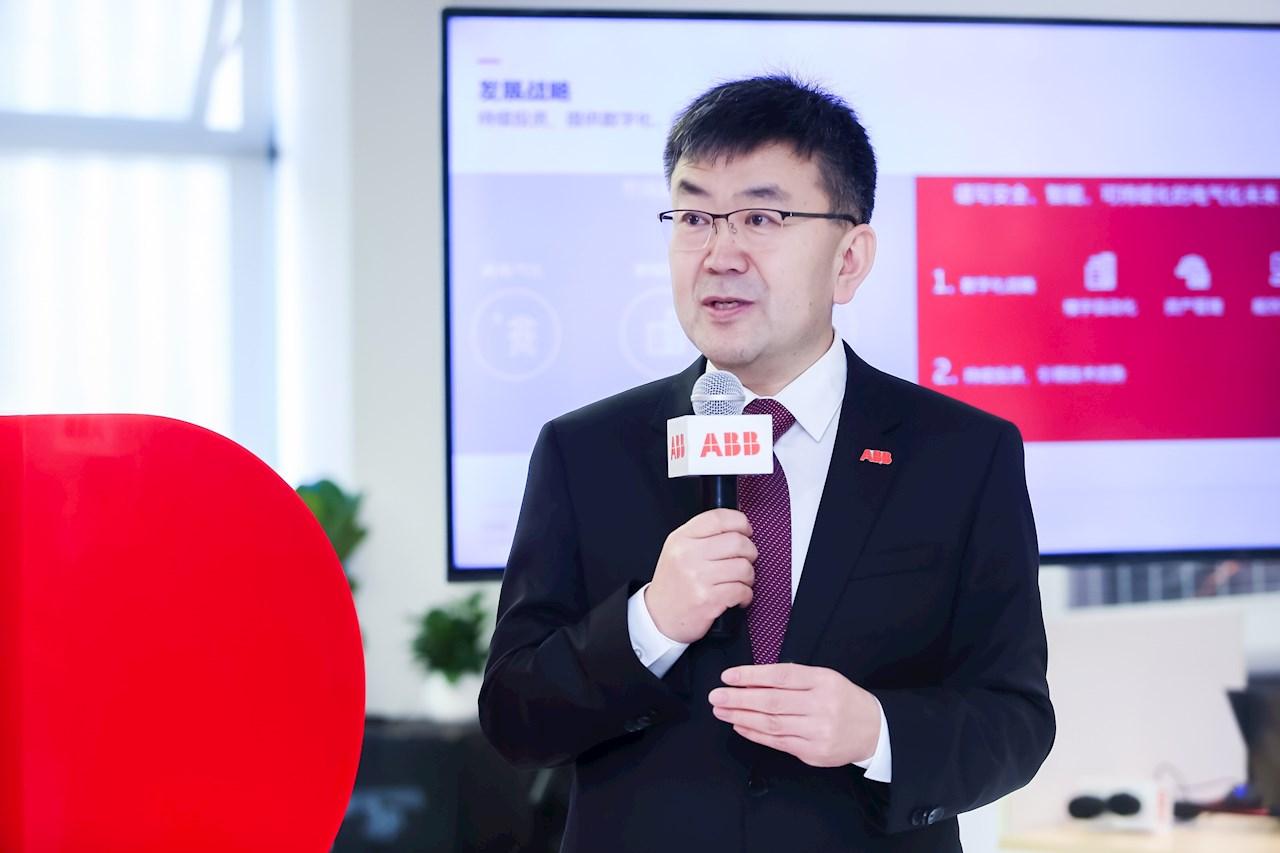 ABB中國電氣事業部負責人趙永占致辭