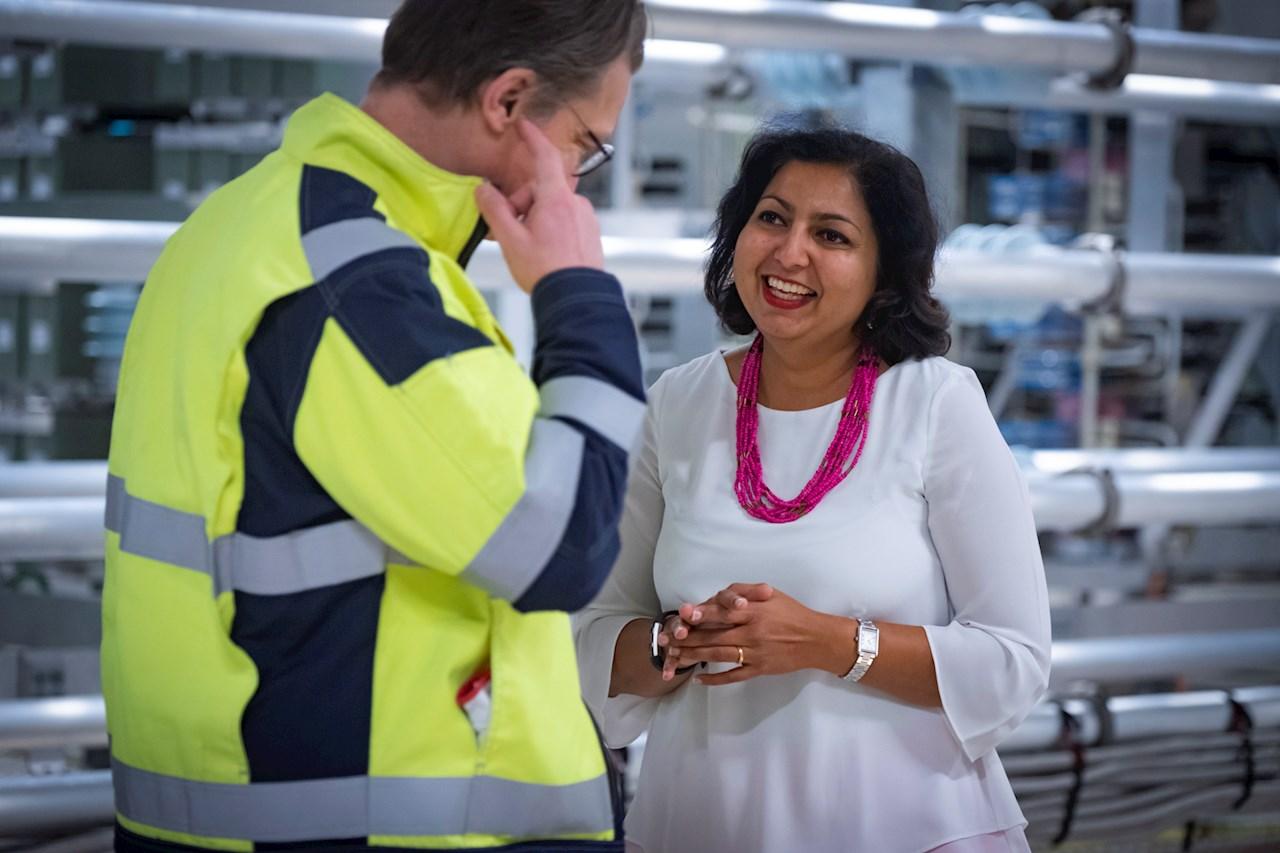 Reshma under ett besök i Sverige. Foto: Kim Norman