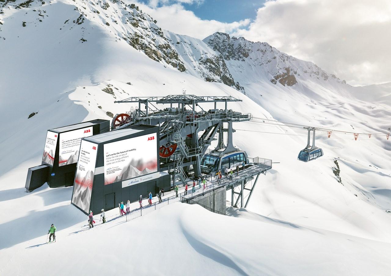 Otra de las soluciones de ABB en las montañas se puede encontrar en Lenzerheide, Suiza.