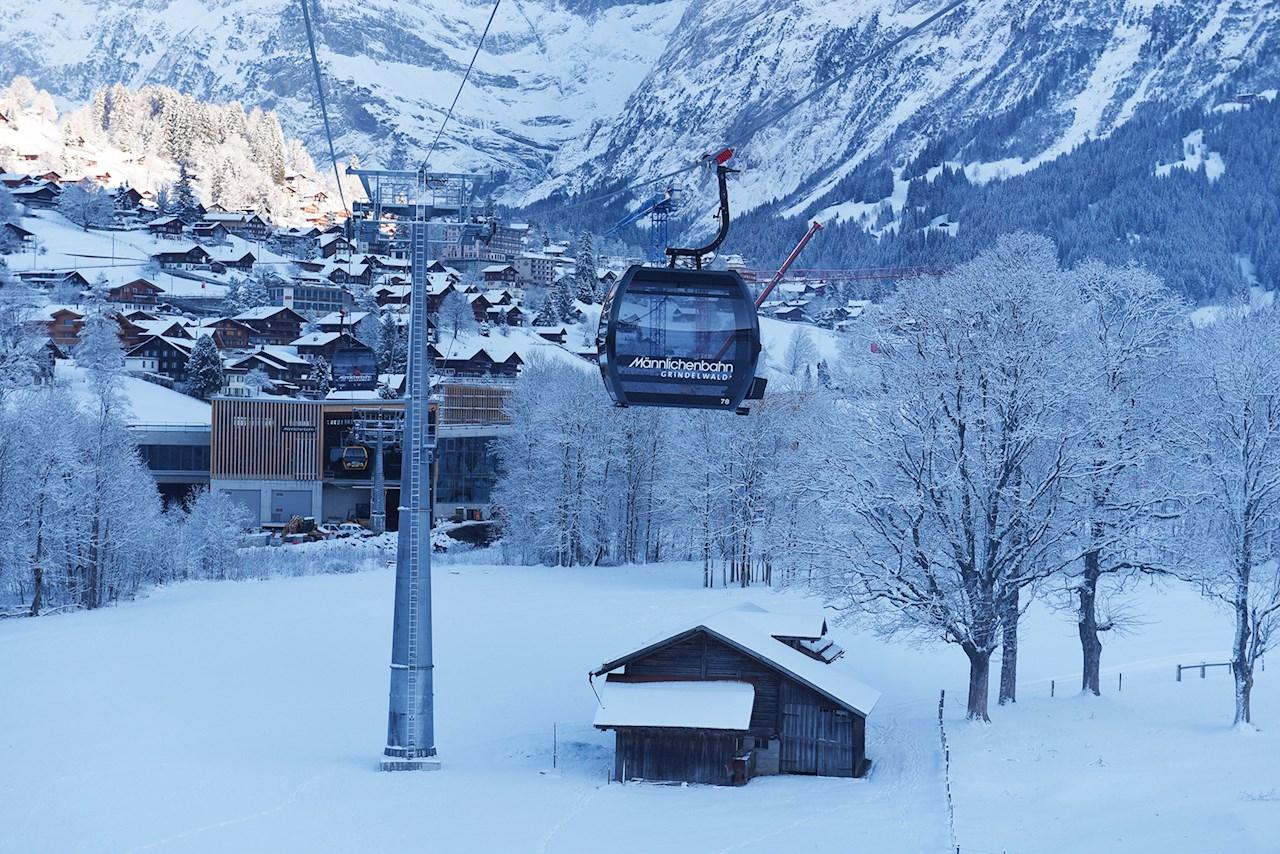 Die neue Gondelbahn Grindelwald-Männlichen nimmt Fahrt auf. © Jungfraubahnen.