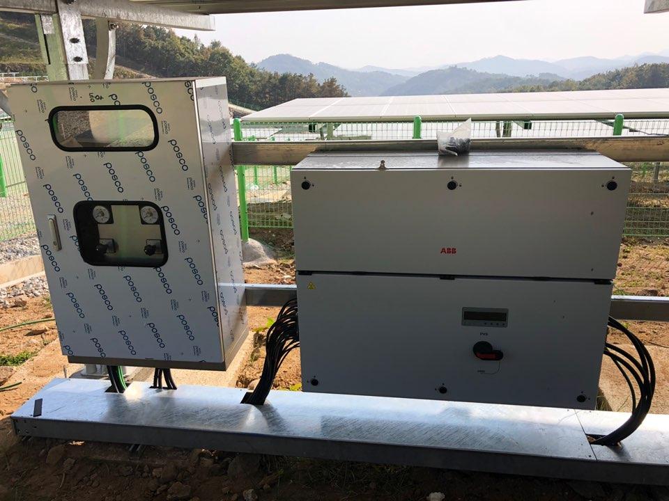 ABB Solar Inverter PVS-100 installed at the plant