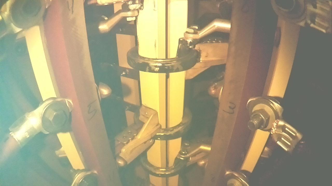 TXplore's high-definition camera view through the transformer's dark oil
