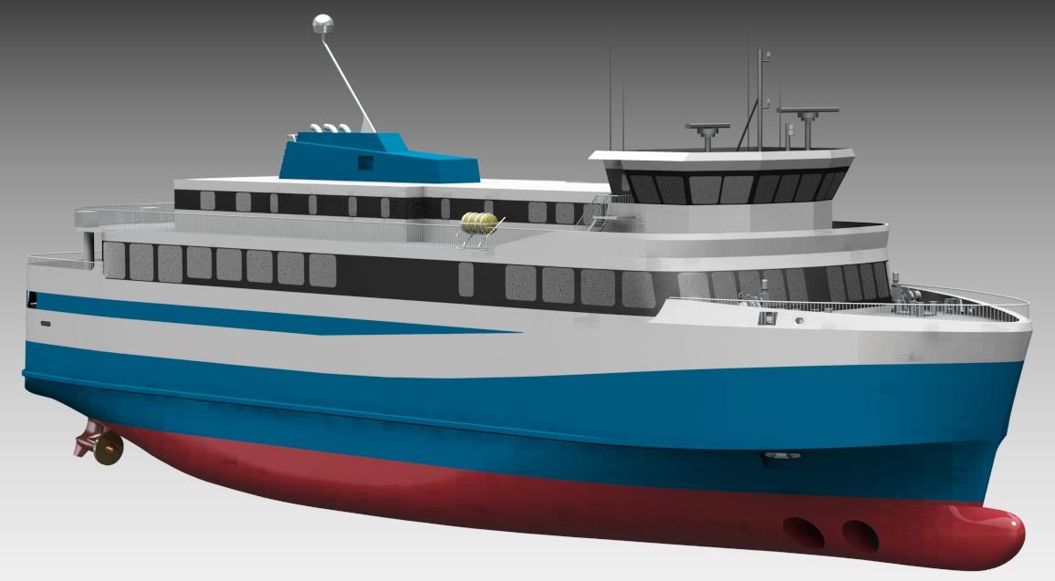 Premier ferry électrique islandais. Image fournie par Polarkonsult