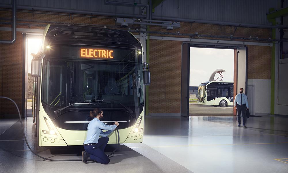 ABB leverer lading til elbusser på Lillehammer (Bilde: Volvo Bussar).