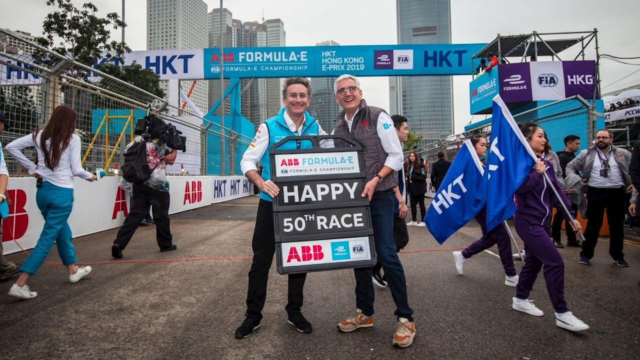 ABB und Formel E feiern ihre Partnerschaft beim 50. Rennen in Hong Kong