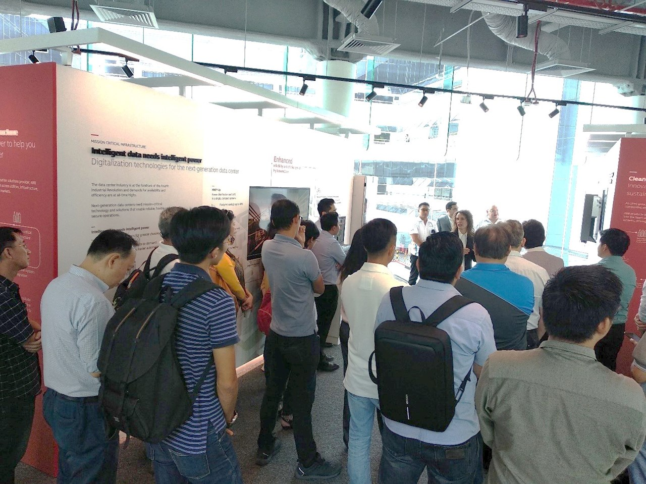 Attendees taking a tour of ABB's Customer Innovation Center in Singapore