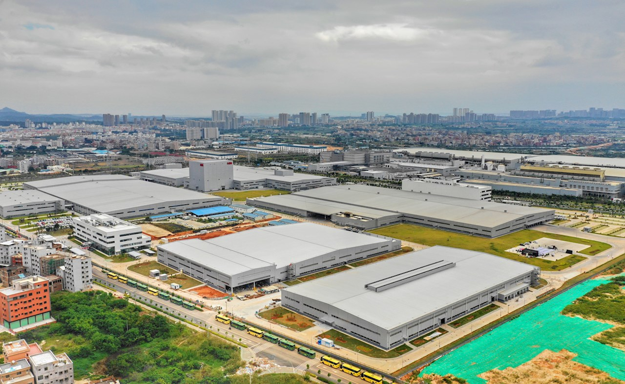 ABB's advanced innovation and manufacturing hub in Xiamen, China