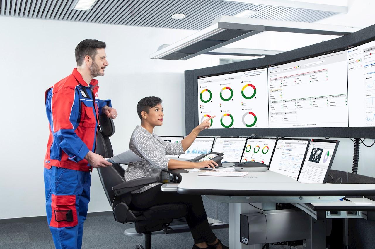 Mit ABB Ability™ Condition Monitoring für den Antriebsstrang können Anlagenbetreiber die Leistung, Zuverlässigkeit und Effizienz der Komponenten des Antriebsstrangs verbessern.