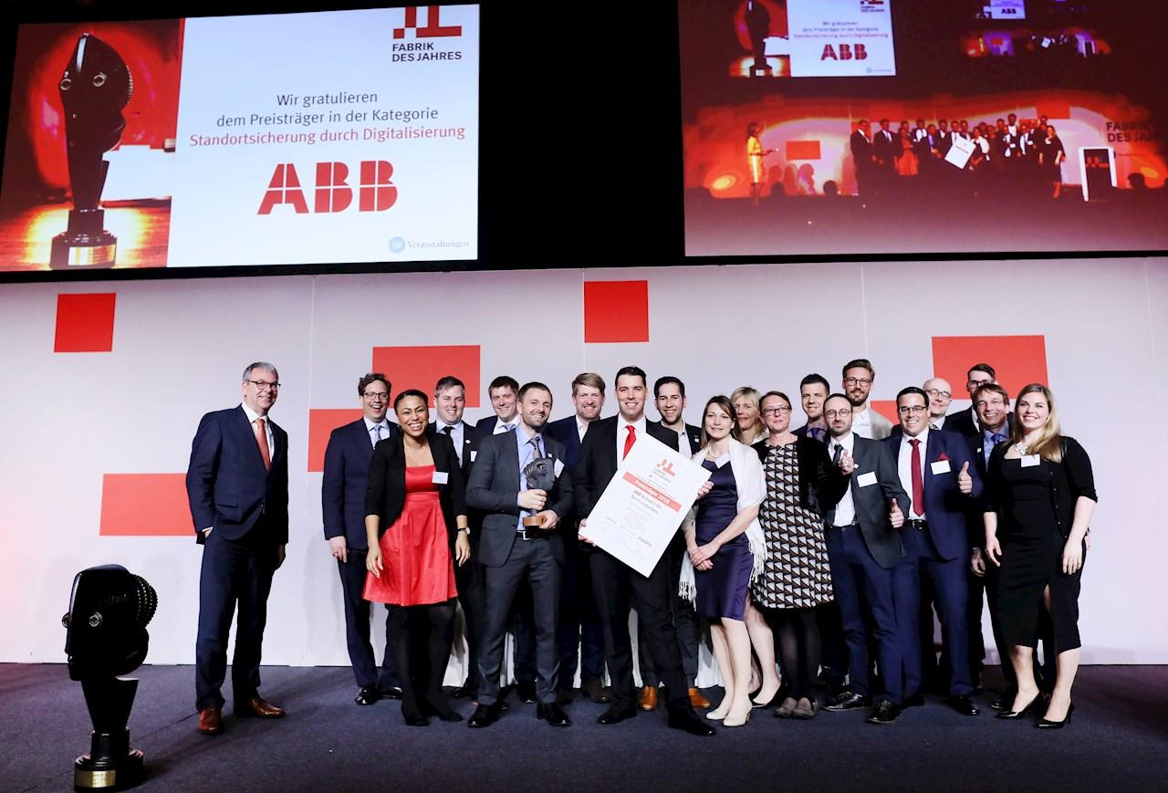 Das Team von ABB Semiconductors freut sich über die Auszeichnung.