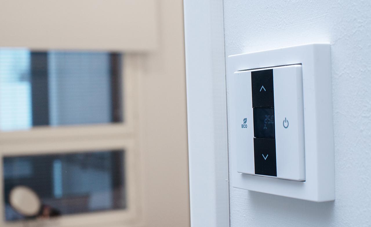 Resiinankulma lämpiää maalämmöllä. Kesäaikaan samaa järjestelmää käytetään talon viilennykseen.