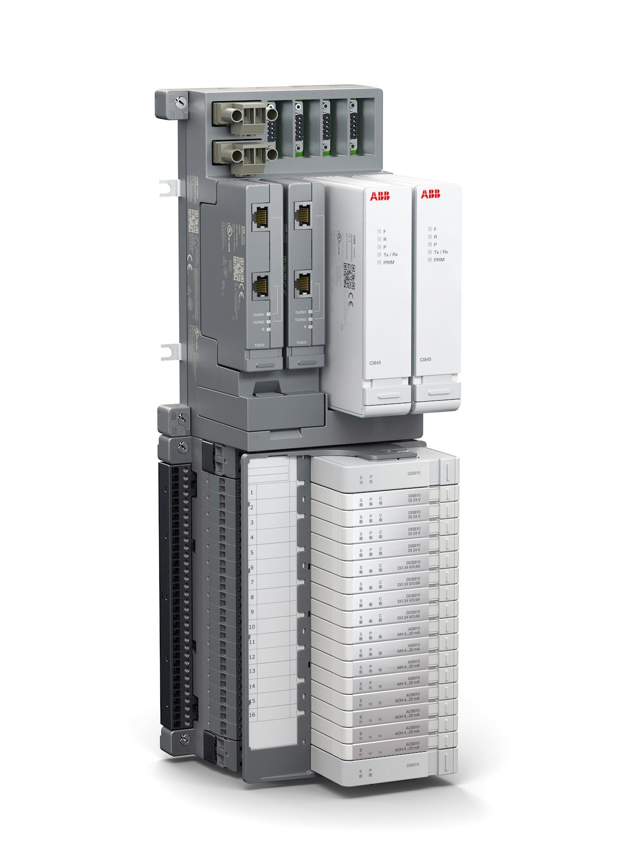 Select I/O: Ett modulärt, 1-kanals, Ethernet baserat I/O, som kan ersätta traditionell korskoppling, med en mjukvarobaserad korskoppling i ABB Ability™ System 800xA.