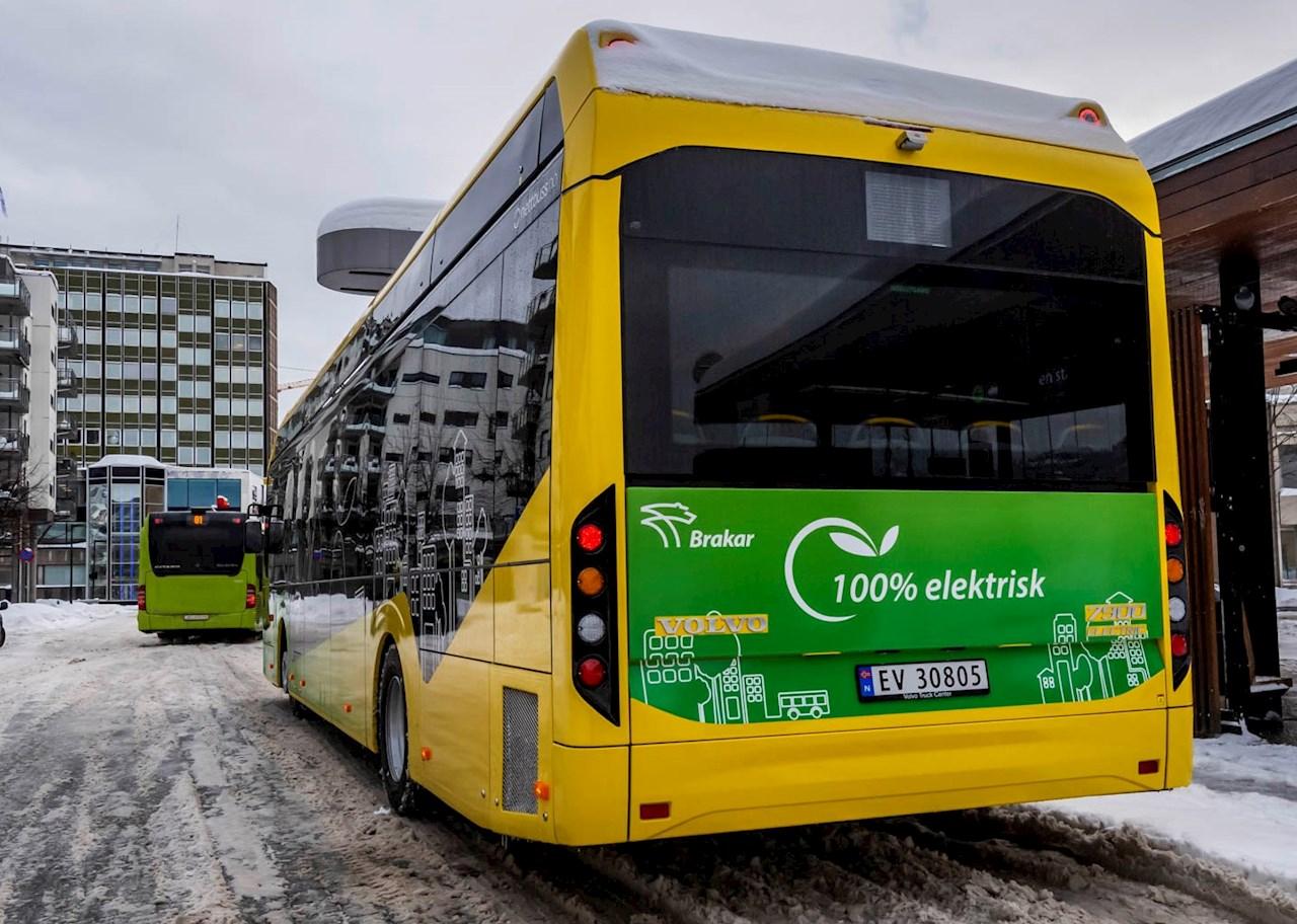 ABB leverer depotladere til Buskeruds første elbusser (Foto: Brakar)