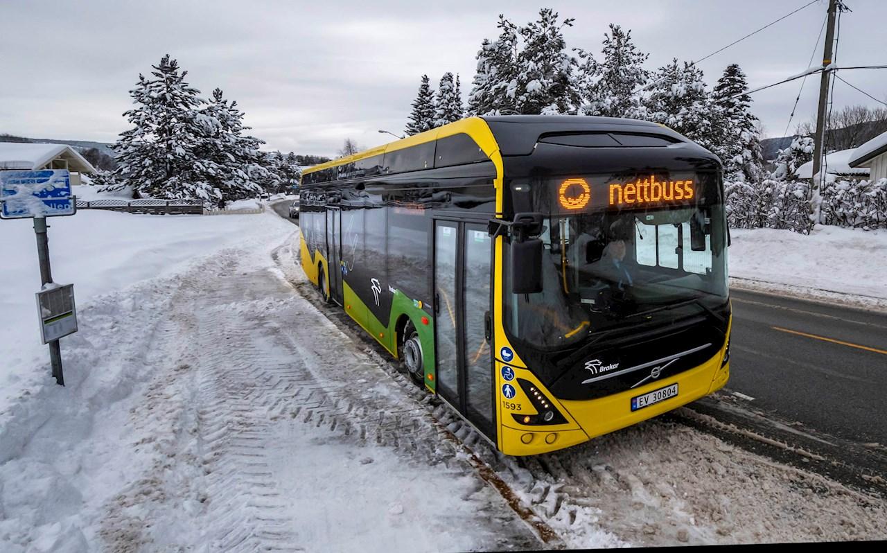 Buskeruds første elbusser lades blant annet med depotladere fra ABB (Foto: Brakar)